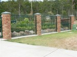 Colonial Green Fence Panels