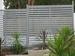 Horizontal Slat Privacy Fencing